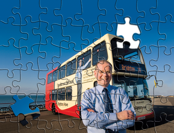 ... managing director of Brighton and Hove Buses, has spent 30 years in
