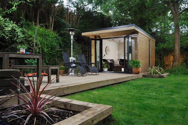 Extra space solutions with harrison james for Outdoor home office buildings