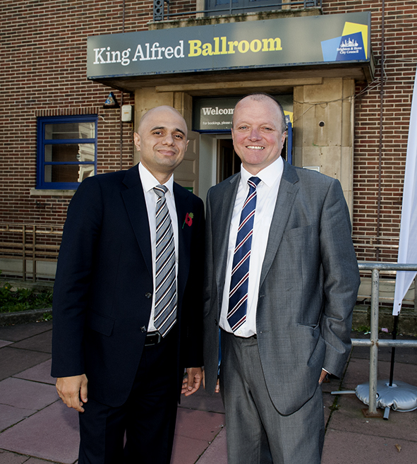 Cabinet Minister Visits King Alfred In Hove