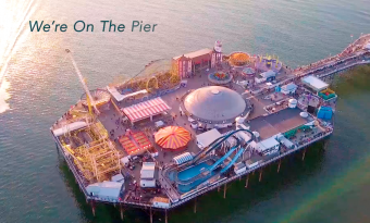 We are on the pier