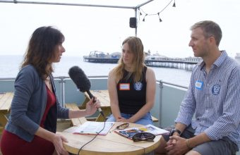 Richard French and Rachel Cooper interviewed at the IAPWA Charity fundraiser event at Brighton Zip