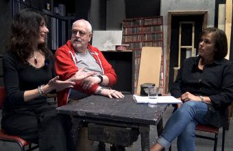 Latest TV reporters Andrew Kay and Yael Breuer talk with Artistic Director of New Venture Theatre, Katie Brownings