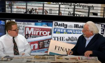 Mike Mendoza and Mark Walker on the Newspapers Show