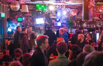 An image of a busy bar area from Brightons Beer Festival in october 2021, photographer unknown