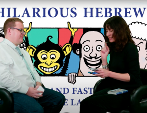 Yael Breuer talks about her new card game and book, hilarious hebrew