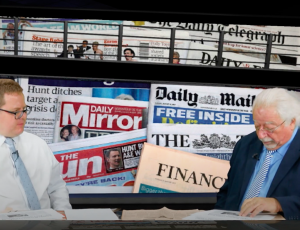 Mark Walker and Mike mendoza review local and national newspapers